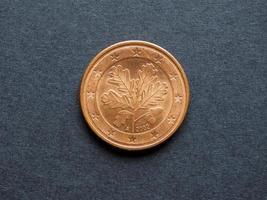 moneta da cinque centesimi di euro foto