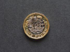 Moneta da 1 sterlina, regno unito foto