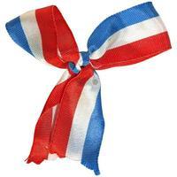 coccarda della bandiera nazionale della francia foto