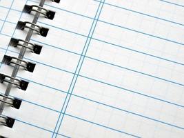 pagina di quaderno vuota foto