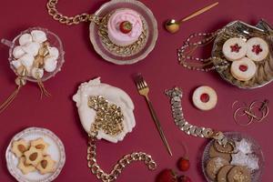 l'elegante assortimento del tea party foto