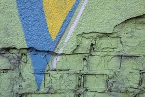 sfondo colorato murale graffiti per la decorazione della parete foto