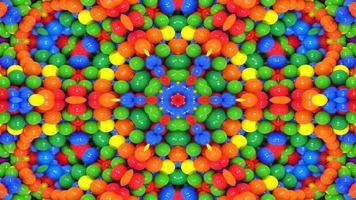 caleidoscopio simmetrico colorato astratto foto