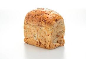 pagnotta di pane isolato su sfondo bianco foto