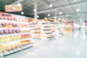 sfocatura astratta e supermercato sfocato per lo sfondo foto