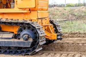 bulldozer da cantiere per edificio industriale foto