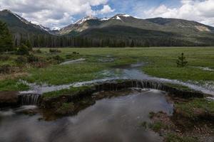 valle di kawuneeche - parco nazionale delle montagne rocciose foto