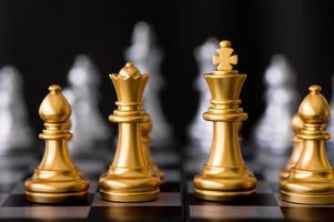 set di scacchi con sfondo nemico foto