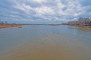 una vista profonda un miglio e sei pollici del fiume Platte foto