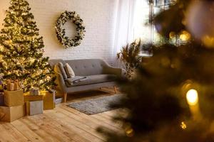 bellissima camera decorata per feste foto