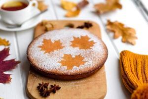 bella torta di zucca dolce fresca foto