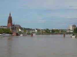 vista di francoforte, germania foto