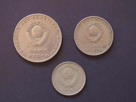 moneta rublo, russia foto