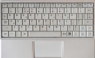 tastiera del computer portatile foto