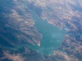veduta aerea della sardegna foto