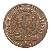 antica moneta italiana foto