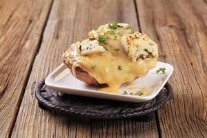 doppio formaggio due volte al forno di patate foto