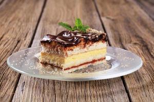 torta alla crema alla vaniglia foto