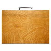 valigetta di legno isolata foto