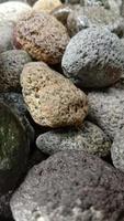 foto astratta con primo piano di oggetti di roccia
