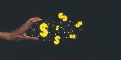 guadagnare soldi guadagnare soldi dollaro valuta illustrazione foto