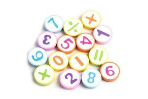 simbolo di matematica su sfondo bianco. foto