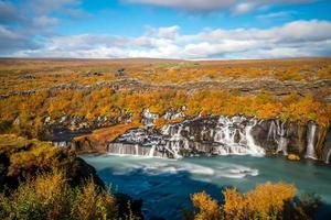 islanda bellissimo paesaggio, paesaggio naturale islandese foto