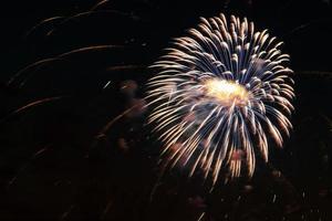 fuochi d'artificio dai colori vivaci foto