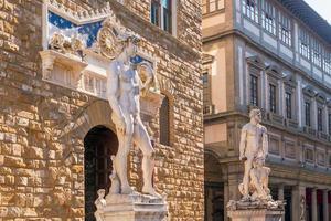 scultura in piazza della signoria a firenze foto