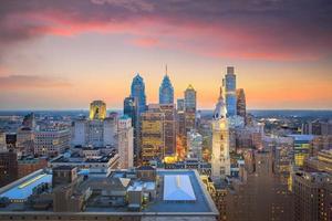 skyline del centro di philadelphia foto