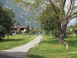 valle d'aosta in italia foto