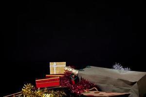 natale compleanno san valentino champagne confezione regalo concept foto