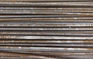 concetto di costruzione industriale in ferro metallico foto