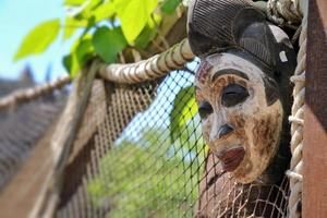 maschera africana antica vintage astratta foto