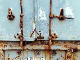struttura di piastra metallica blu di lerciume. foto