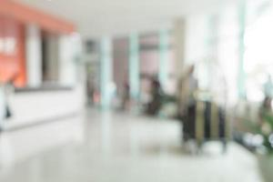astratto bellissimo lusso sfocatura interni dell'hotel foto