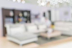 sfocatura dell'immagine dell'interno del soggiorno moderno per lo sfondo foto