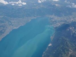 vista aerea del lago bodensee foto
