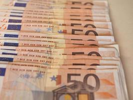 banconote in euro euro, unione europea eu foto