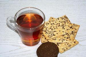 tè con biscotti foto