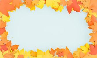sfondo autunnale con foglie di acero foto