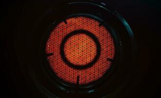 tecnologia a radiazione infrarossa sul modello in ceramica della stufa a gas foto