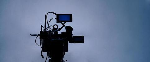 produzione video dietro le quinte. realizzazione di film commerciali per la tv foto