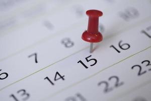 pin sul calendario foto
