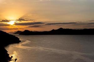 croazia lopud tramonto foto