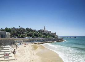 spiaggia della città di jaffa yafo città vecchia di tel aviv israele foto