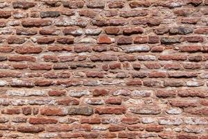 fondo di struttura del muro di mattoni rossi. foto
