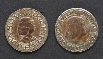antica moneta Ludovico Moro foto