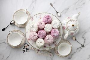 l'elegante composizione del tea party foto