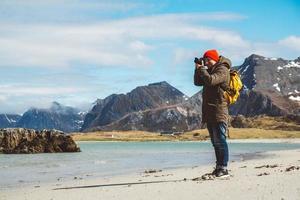 fotografo viaggiatore che si impadronisce del paesaggio fotografico paesaggio foto